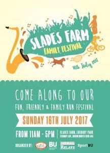 Slades Farm Family Festival flyer front 2017