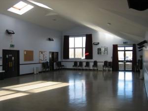 Main hall at Ensbury Park Community Centre