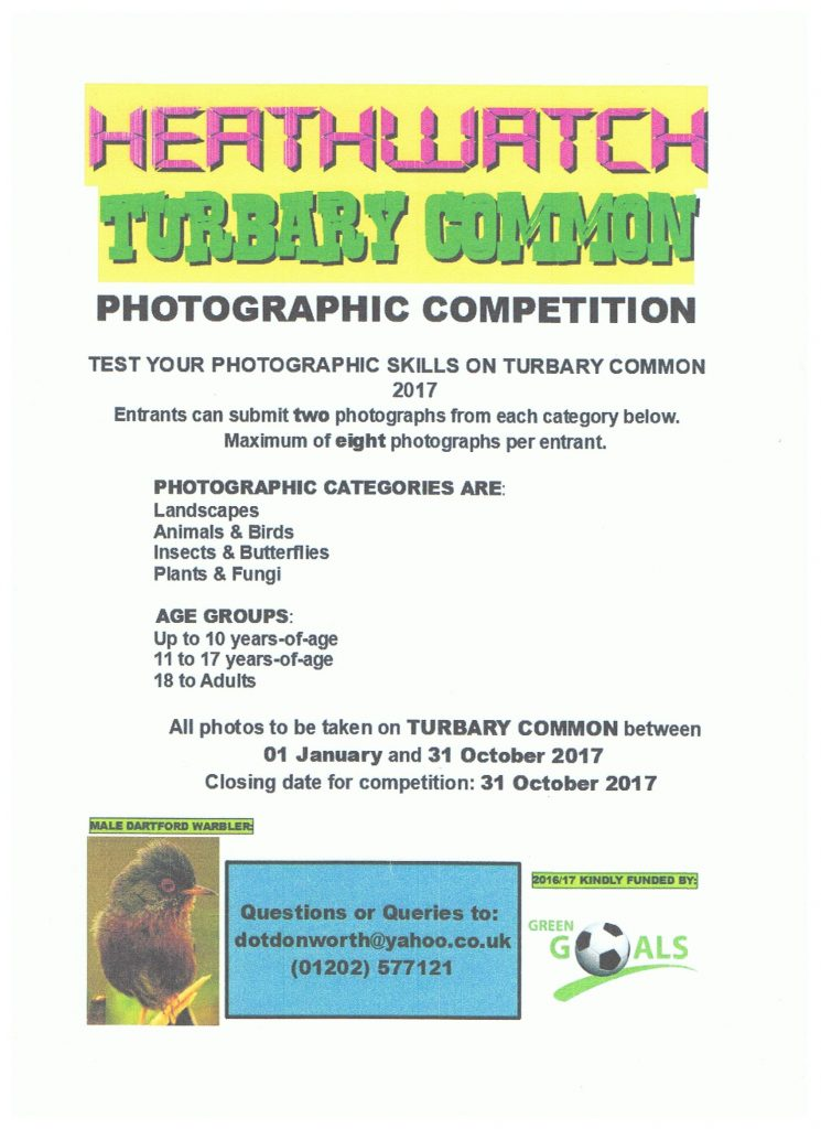 Heathwatch Turbary Common PHotographic Competition 2017
