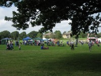 A view of the Slades Farm Family Fun Day from across the park