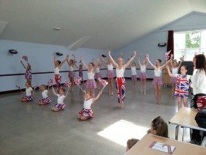 dance class inside ensbury park community centre